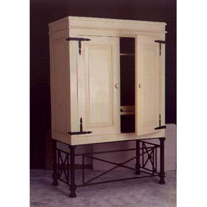 Armoire with Iron Base - 10138