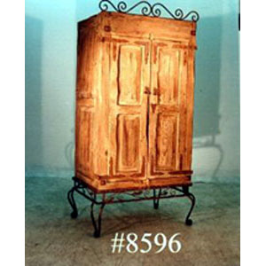 Armoire - Rustic with Iron Base - 8596