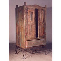 Armoire - Rustic with Iron Base - 9616