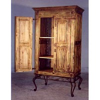 Armoire - Rustic with Iron Base - 9712