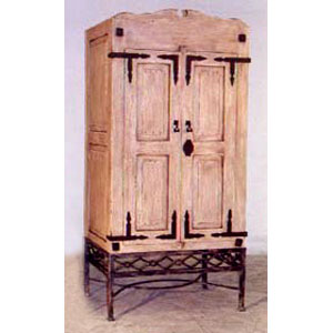 Armoire - Rustic with Iron Base - 9780