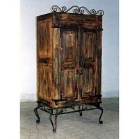 Armoire - Rustic with Iron Base - 9828
