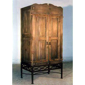 Armoire - Rustic with Iron Base - 9830