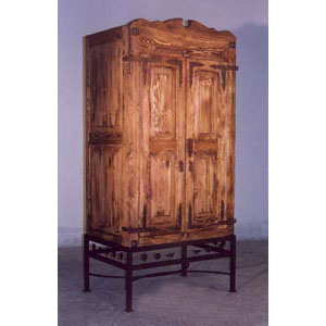 Armoire - Rustic with Iron Base - 9832