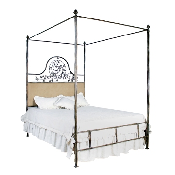 Iron Vine Motif Canopy Bed - 42970