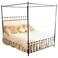 Iron Straight Canopy Bed - 41286