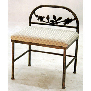 Bench - Small - Iron with Cushion - 9954