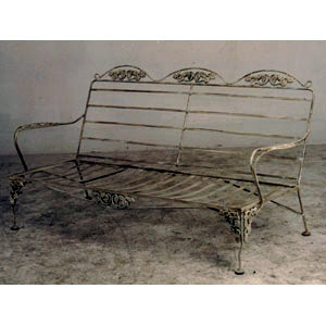 Iron Garden Bench without Cushion - 11526