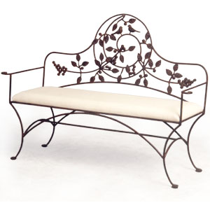Bench - Iron - Birds and Leaves - SOFC62