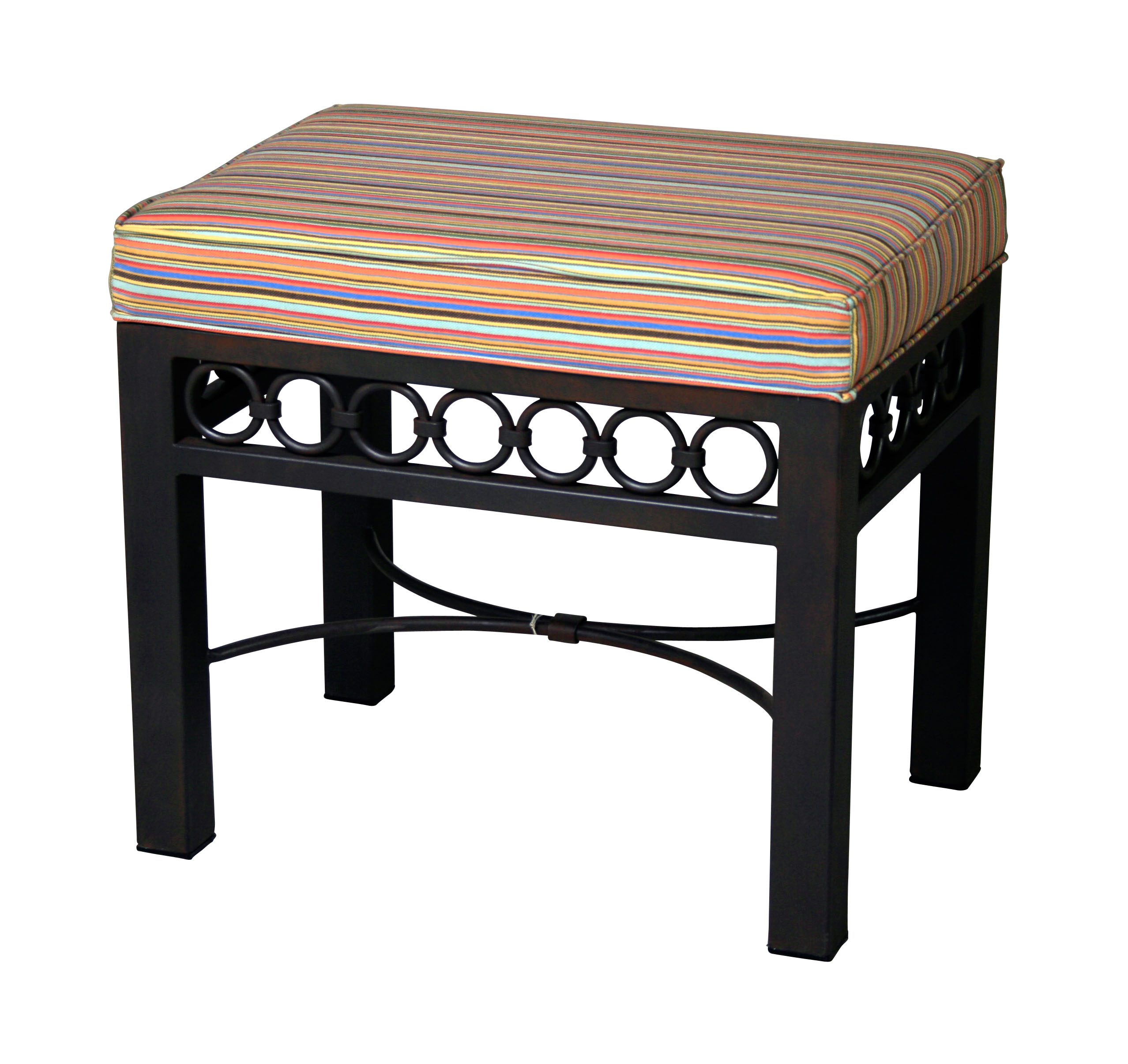 Bench - Small - Iron Upholstered - 15528