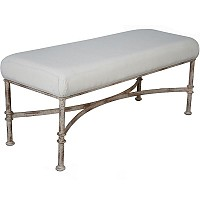 Bench - Iron Upholstered - 16464