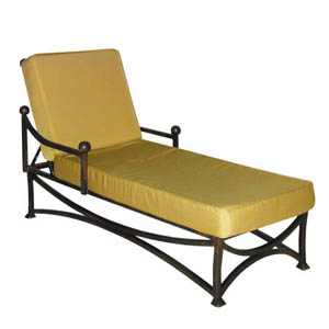 Iron Garden Chaise Lounge with Cushion - 12910