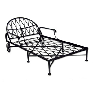 Iron Garden Chaise Lounge - 13700