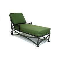 Iron Garden Chaise Lounge Recliner w/Cushion - 14858