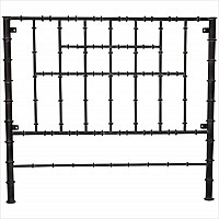 Iron Headboard with Bamboo Design - 43346