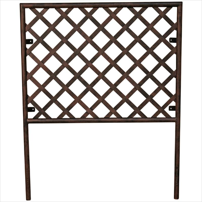 Iron Headboard with Basket Weave Design - 43344