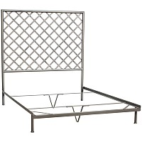 Iron Headboard with Lattice Design - 43460