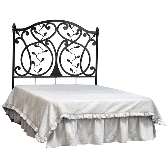 Iron Headboard with Leaves Design - 43174