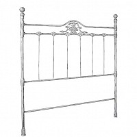 Iron Headboard with Shell Design - 43342