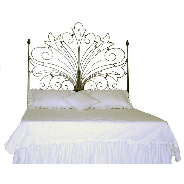 Iron Headboard with Curls Design - 42666