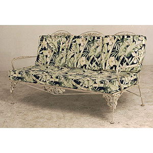 Iron Garden Sofa with Cushion