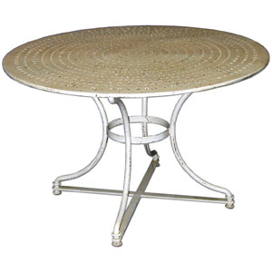 Perforated French Tin Top Table - 13909