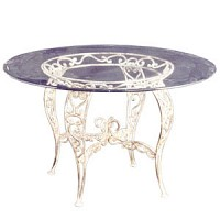 Iron Vintage Dining Table (Round)