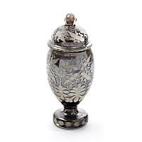 Etched Covered Vintage Jar