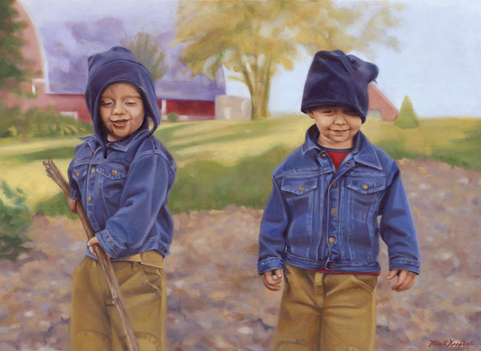 Farm Boys - Painting