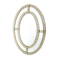 Oval Antique Trimmed Mirror