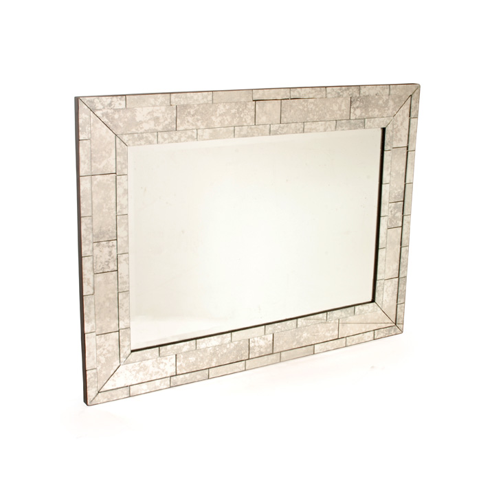 "Antique ""Brick"" Mirror"
