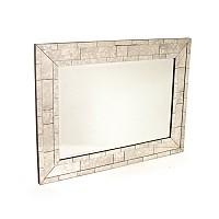 """Antique """"Brick"""" Mirror"""