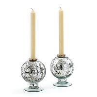 Vintage Silver Spherical Candleholder