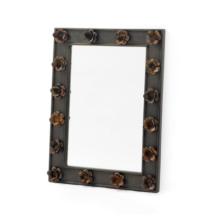 Trellis Rust Mirror