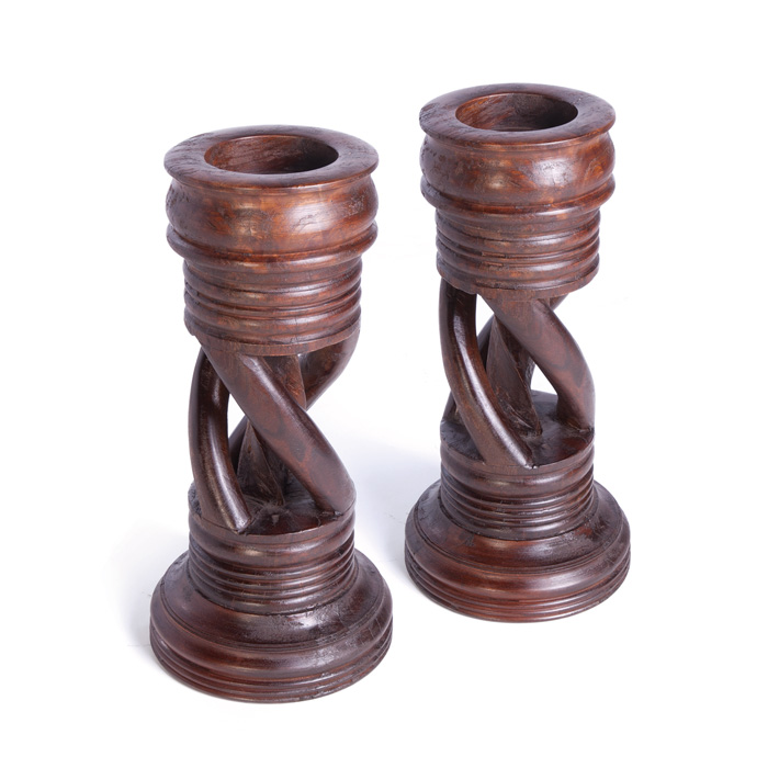 Pair Of Spiral Candlesticks