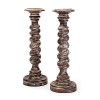 Pair Of Twisted Candlesticks