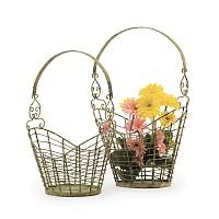 Set Of Two Stork Baskets