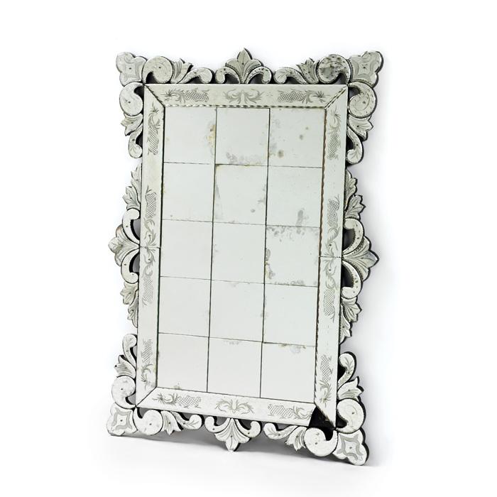Beveled Squares Mirror