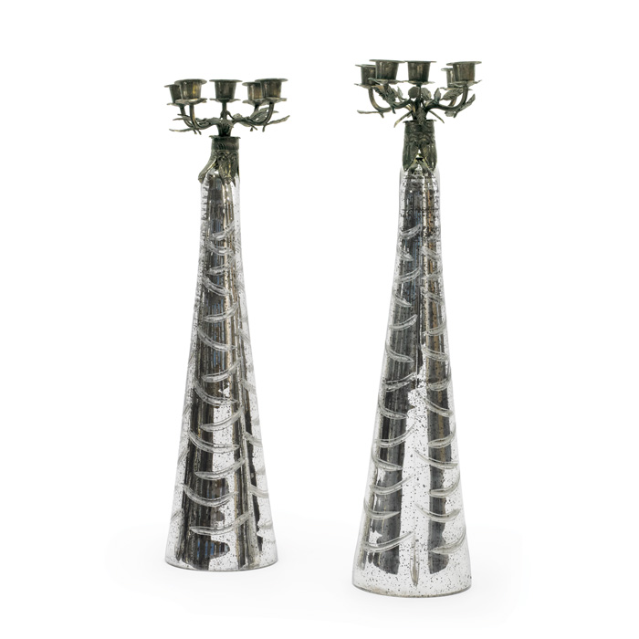 Pair Of Mercury Candelabras