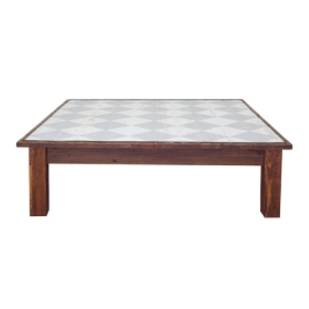 Farmhouse Coffee Table Square Diamonds