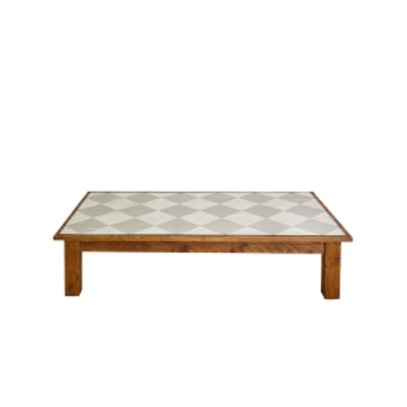 Farmhouse Coffee Table Rectangle Diamonds