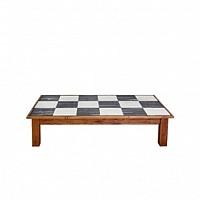 Farmhouse Coffee Table Rectangle Checks