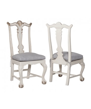 Chippendale Chairs - White