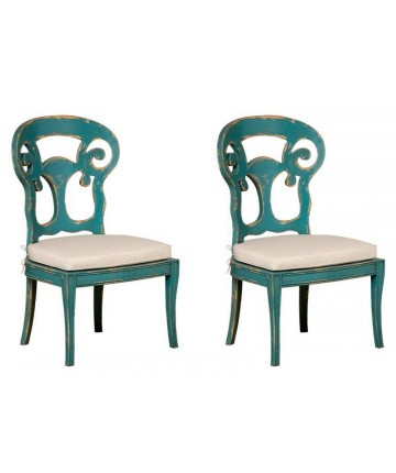 Verona Club Side Chair -Cyan