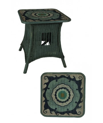 Marden Cottage Rattan Accent Table