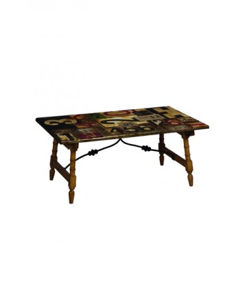 Bamboo Accent Coffee Table
