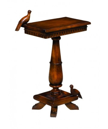 Socle Table With Birds