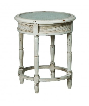 Round Side Table W/Caning