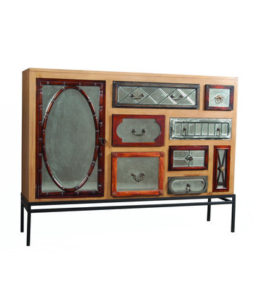 Global Mirrored Vintage Chest