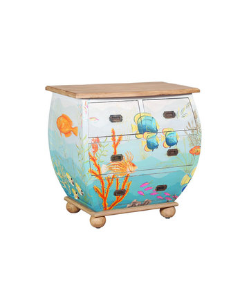 Waterfront Bombe Vintage Chest